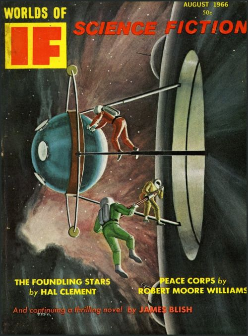 If - August 1966. Cover art by Martin McKenna.