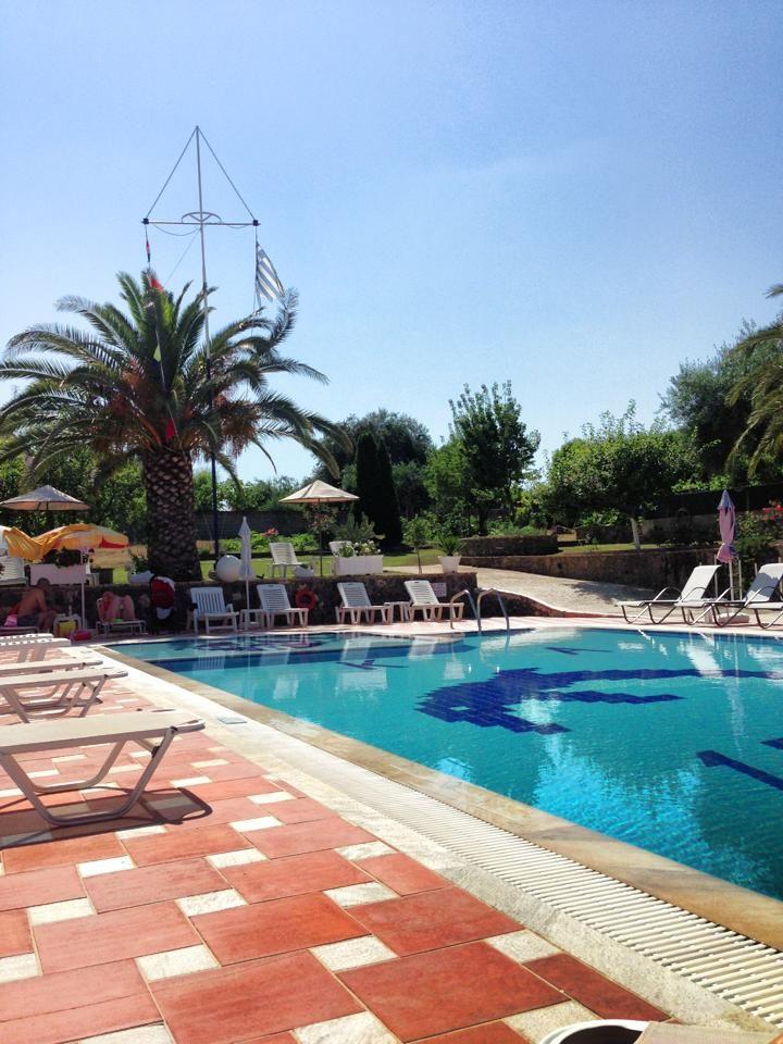 The pool at Mathraki Corfu Resort. http://www.mathrakicorfuresort.com