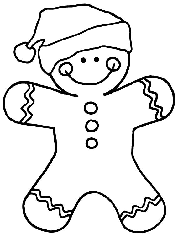 Gingerbread Man Running Coloring Page