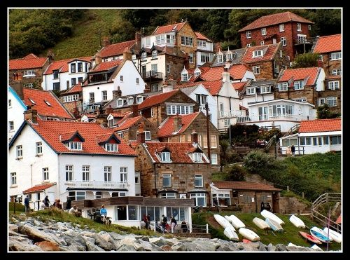 Runswick Bay in North Yorkshire