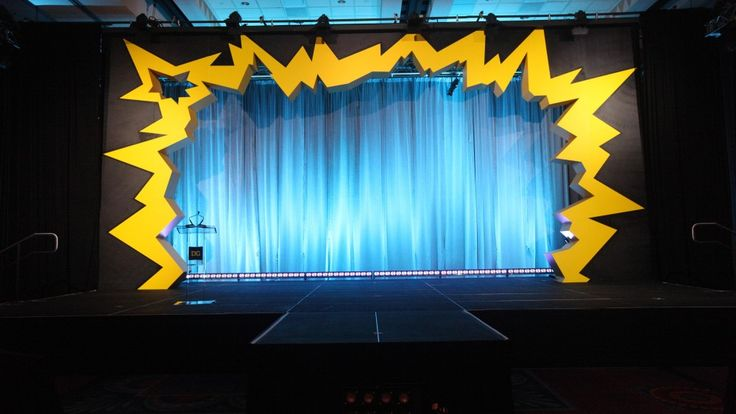 Custom Decor   Disney Event Group Stage decor idea could be made to suit any theme