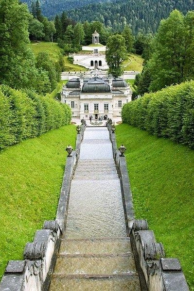 Architechture - Schloss Linderhof - Bavaria, Germany climbing fences here w/my father.
