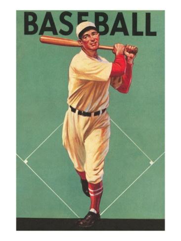 #vintage #baseball #batter #poster