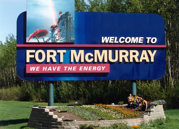 Official logo of Fort McMurray AB.ca.Former (McMurray 1947-1962)