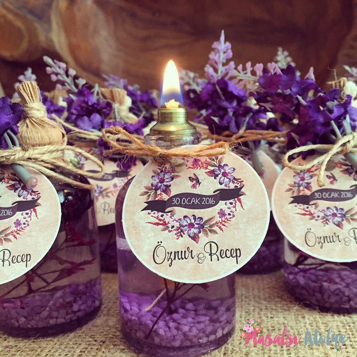 Kandil düğün hediyesi / Candele wedding gift www.masalsiatolye.com #kandil #candele