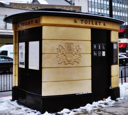 Water Closet on London Street...yes, I had to pay to use one!