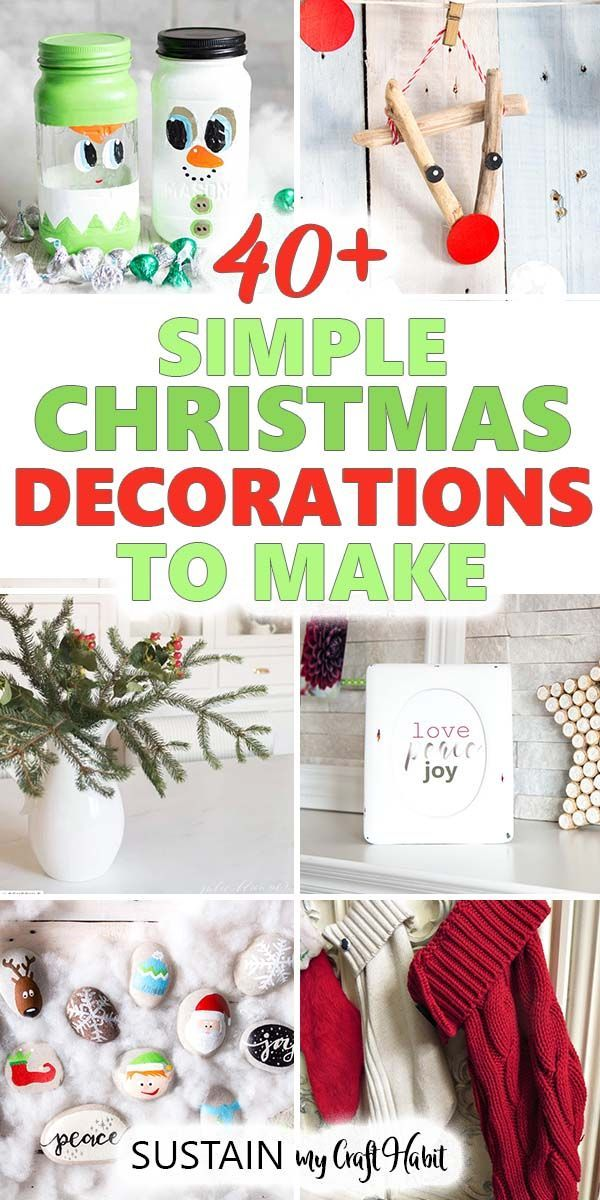 Natural Crafts Christmas 2020 Pinterest Simple, budget friendly DIY Christmas decorations in 2020