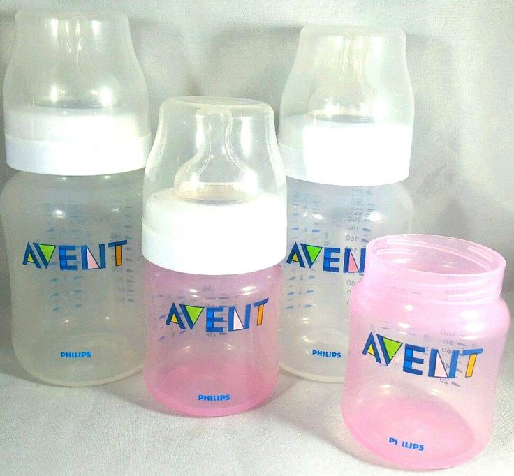 avent classic baby bottles 9 oz 4oz ring seal bottle lot pink clear 2 3 nipples