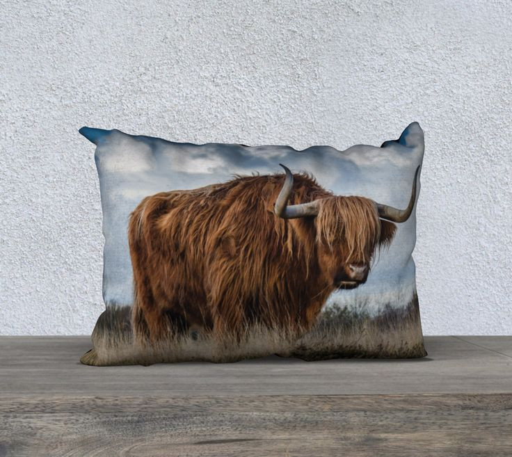 """20""""+x+14""""+pillow+""""Highlander+1""""+by+Mixed+Imagery"""