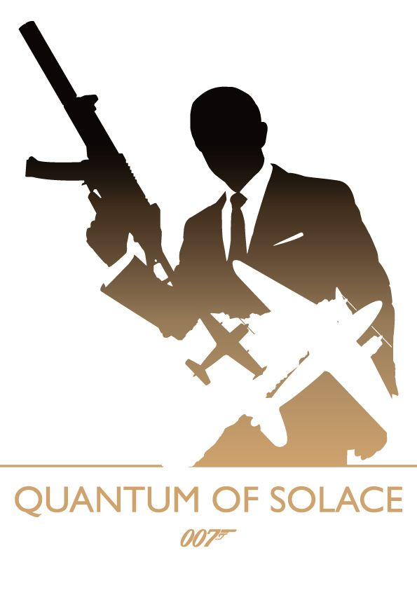 A series of posters based on the James Bond films.Each poster uses negative space to reveal what I believe to be the most iconic images from the films.