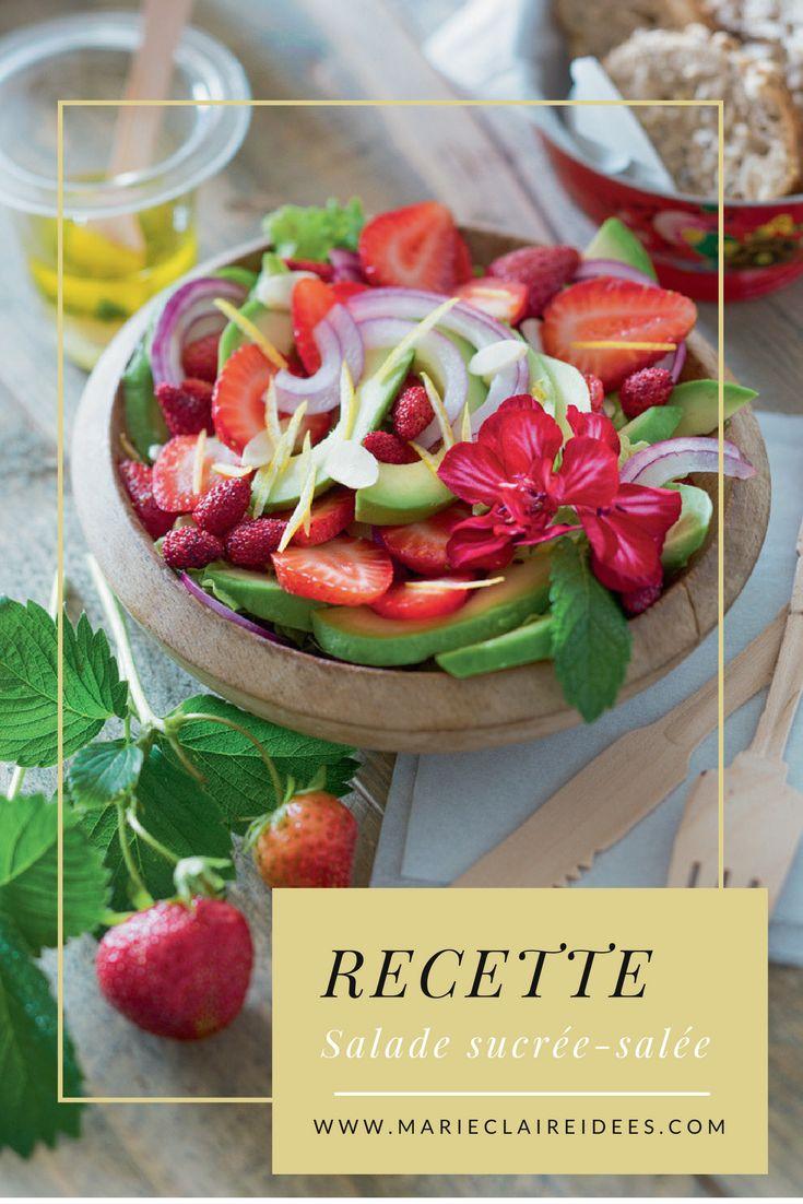 Recette de la salade de l'été, sucrée-salée avocat fraise !
