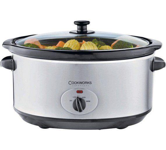 buy cookworks 5 5l slow cooker   stainless steel at argos co uk viac ako 25 najlep    ch n  padov na pintereste na t  mu argos cookers  rh   sk pinterest com