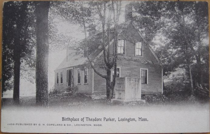 1910 PC: Theodore Parker Birthplace- Lexington, Mass MA