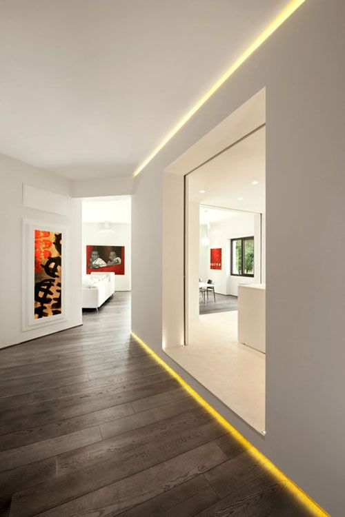 Nice indirect lighting. The Celio Apartment by Carola Vannini Architecture.