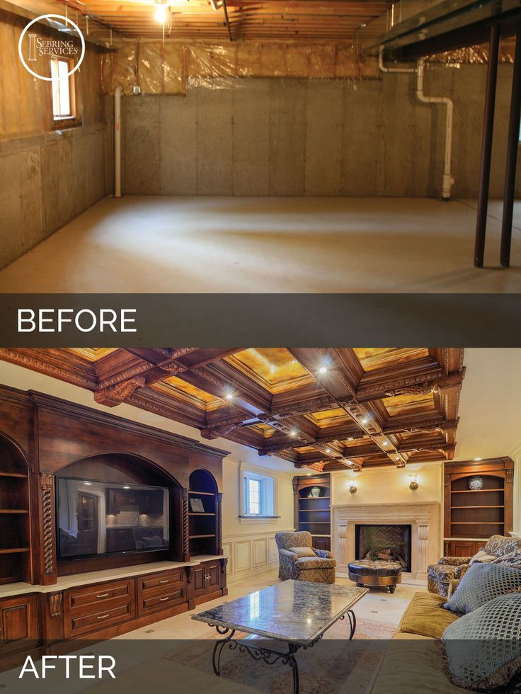 73 best Before After Finished Basement Projects images on
