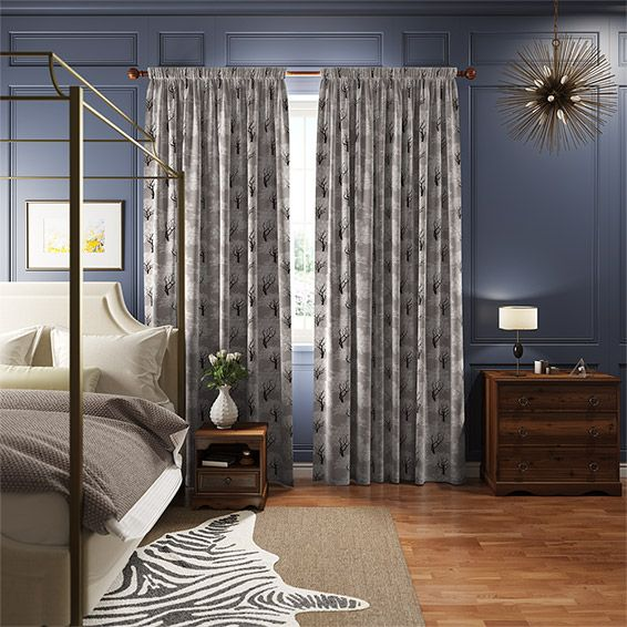 Enchantment Pewter Curtains