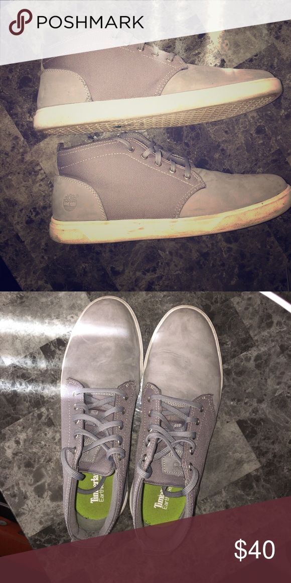 Timberland men's boots size 10.5 Men's Timberland grey Boots size 10.5. Worn twice, great condition. Timberland Shoes Chukka Boots
