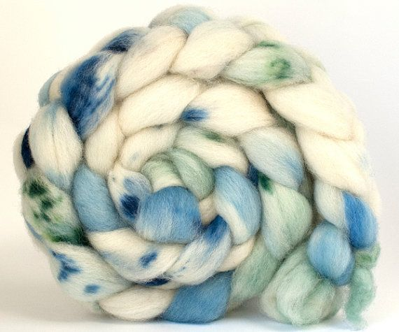 SW Bluefaced Leicester combed top 'Over The by ArtistsPaletteYarns