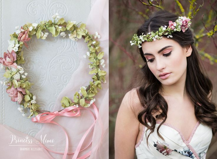 Hair Jewelry & Headdress – Floral Wreath Boho Wedding Flowers Hair Accessories Wreath – Egg …
