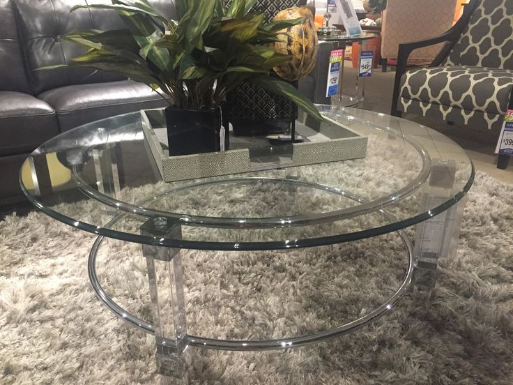 Get Creative With Your Home Decor This Acrylic And Stainless Table Its Designed To
