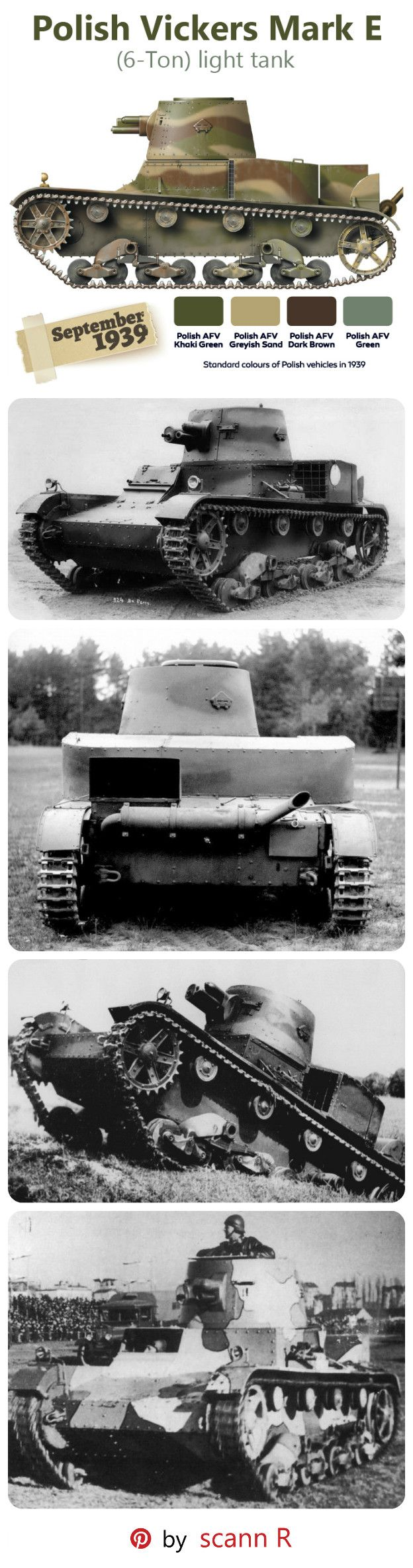 In 1928, Vickers-Armstrongs completed a design of a new, lighter Vickers 6 Ton tank (Mark E). It was to be one of the most significant tank developments, and at that time it was one of the most modern tanks in the world. The first 6-ton tank was tested in Poland in September 1930, On 14 September 1931, Poland bought 38 tanks Vickers Mk.E Type A, with spare parts and a manufacturing licence. Its Polish development was named: VAU-33 (Vickers-Armstrong-Ursus 1933), eventually renamed to 7TP.
