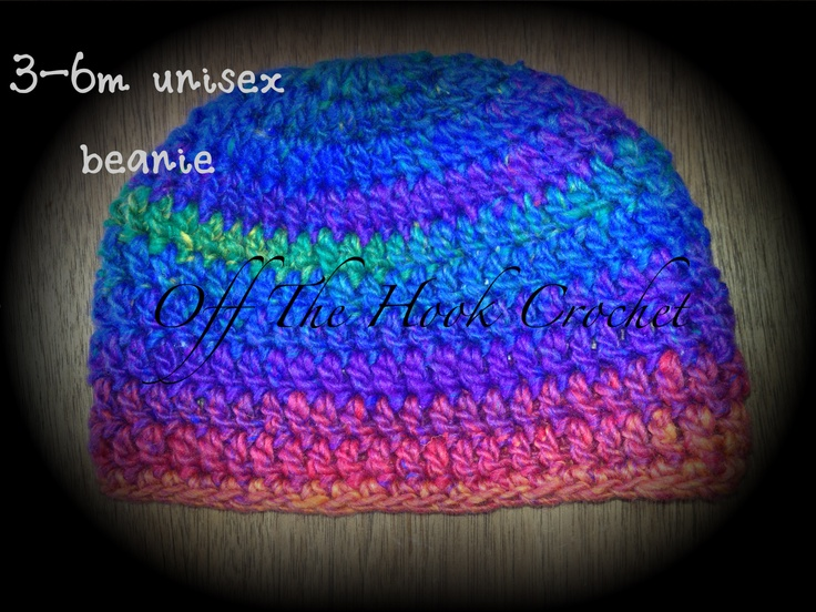 3-6m rainbow beanie