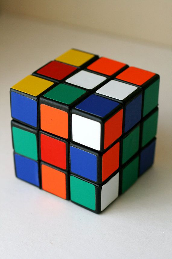 Vintage 1980's Rubiks Cube Original Rubiks Cube Game by AbateArts, $12.00