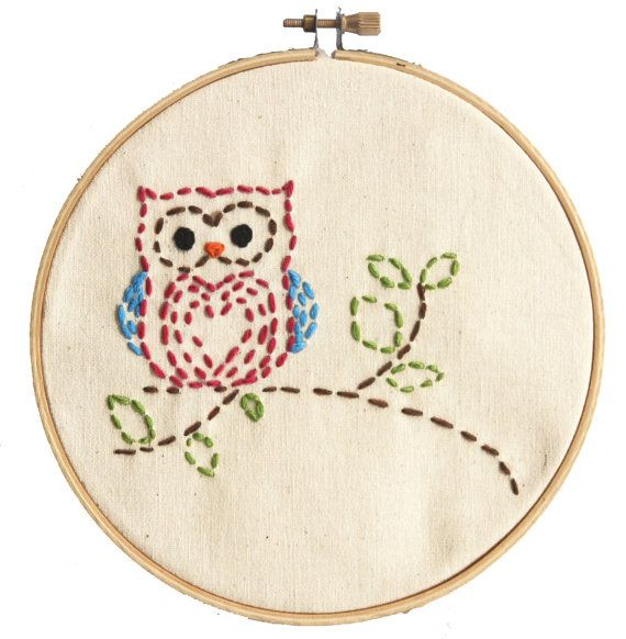 Easy Embroidery Kit for Beginners Sewing by GurleyGirlBoutique