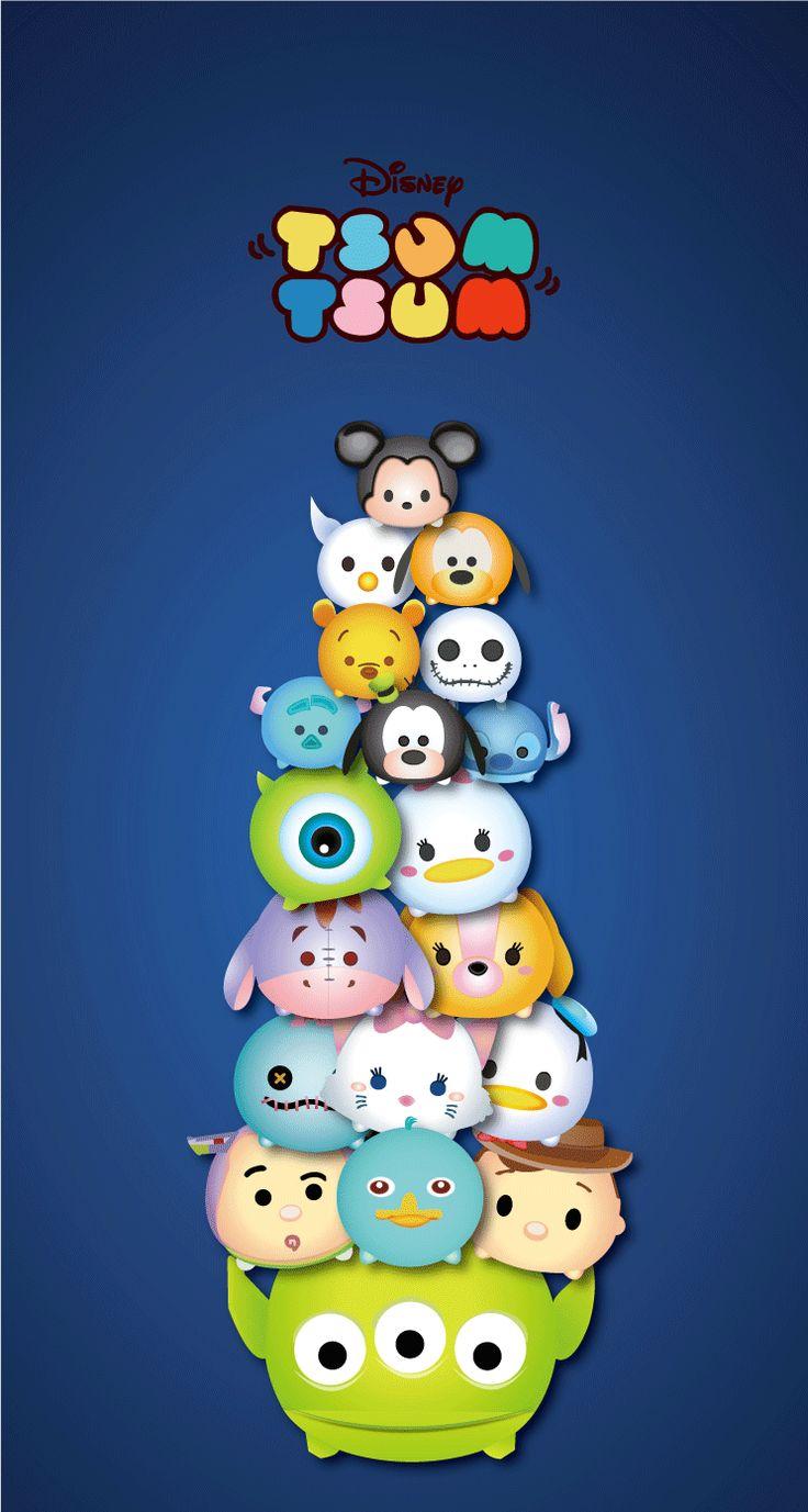Tsum Tsum Disney | TSUM TSUM(ツムツム) LINE 壁紙 iphone トイストーリー ...