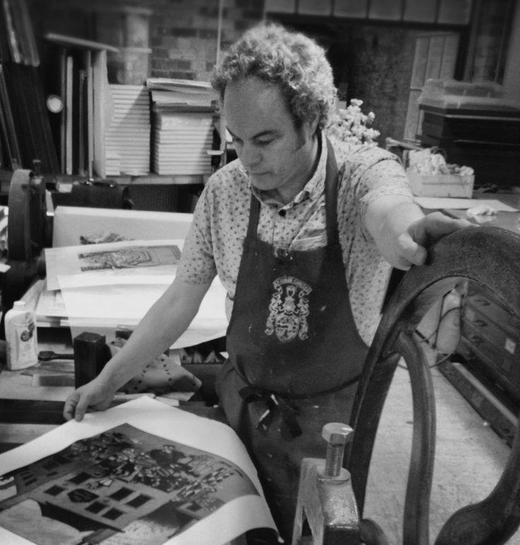 Mychael Barratt Painter Printmaker in his studio