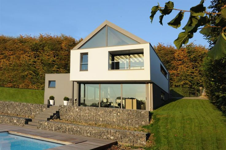 32 best zinc roofing and wall cladding images on pinterest wall cladding exterior homes and for Maison toit pointu