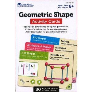 Geometric Shapes, cartes d'activités