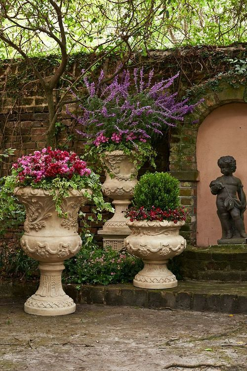 214 best garden urns statues pots and containers images on shop frontgates collection of outdoor planters and garden urns to dress up your garden terrace or entryway these planters and terrariums make the perfect workwithnaturefo