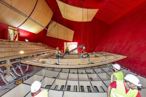 After the earthquake of the 6th of April 2009, the Autonomous Province of Trento decided to give L'Aquila city a new music hall. The project by the architect Renzo Piano foresees an auditorium for 238 people and 40 musicians, a public space and a...