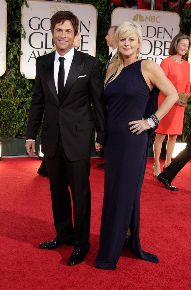 Rob Lowe and his wife Sheryl Berkoff arrive at the 69th Annual Golden Globe Awards in Beverly Hills, California, on January 15.