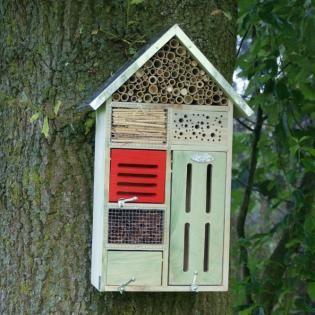 Insectenhotel vlinders, lieveheersbeestjes, gaasvliegen, oorwormen en solitaire bijen kopen
