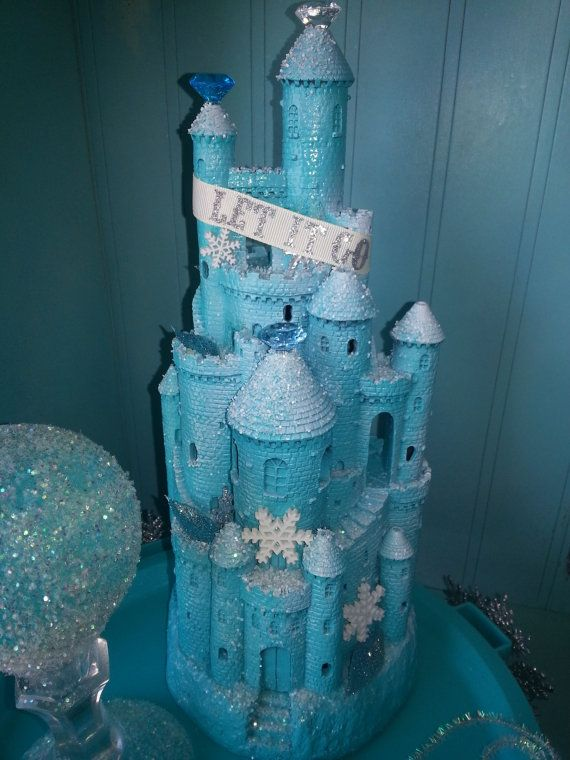Frozen inspired castle centerpiece party disney