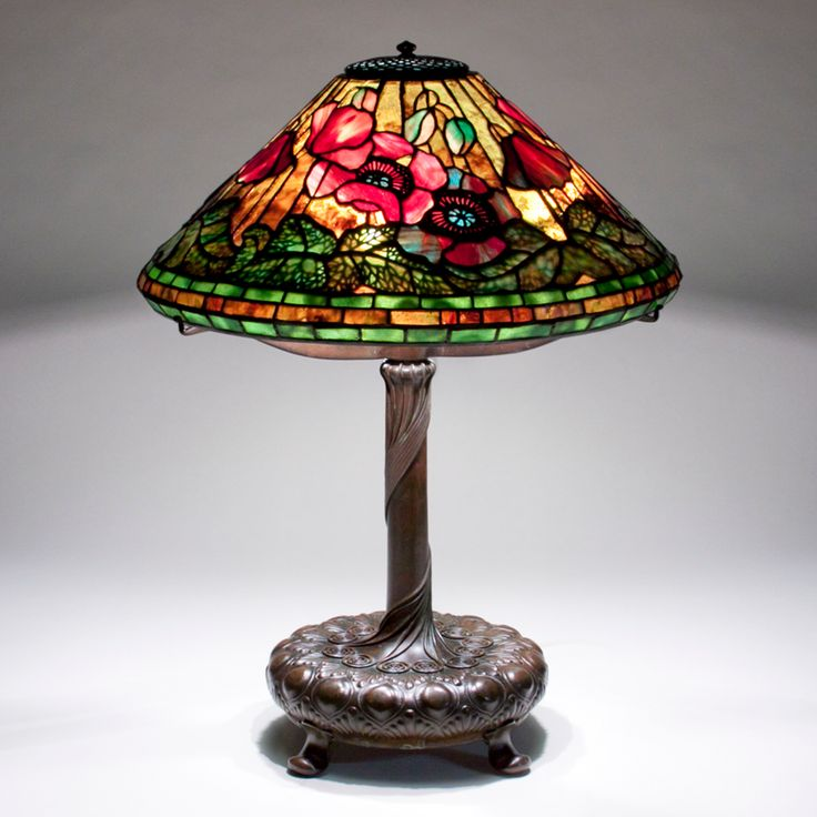 Tiffany Studios Poppy Table Lamp c 1906