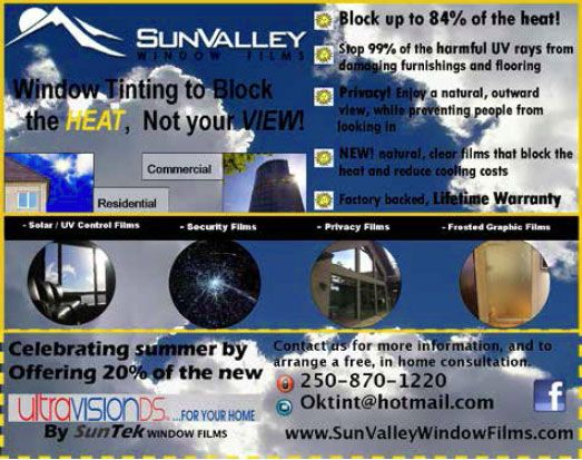 SunValley window films in Kelowna, BC - Summer Special