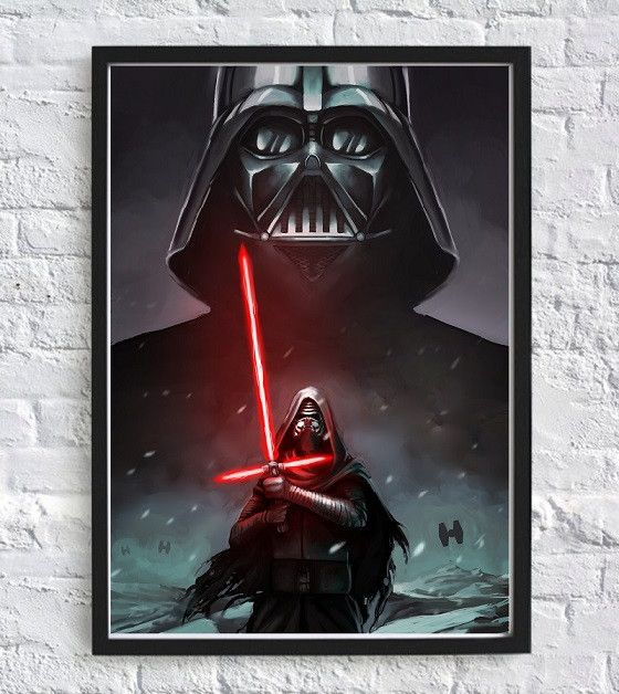 Darth Vader legacy Kylo Ren Star Wars wall Poster - Print The Globe - 1