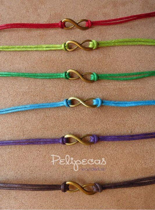 Infinity friendship bracelet. $6.00, via Etsy.