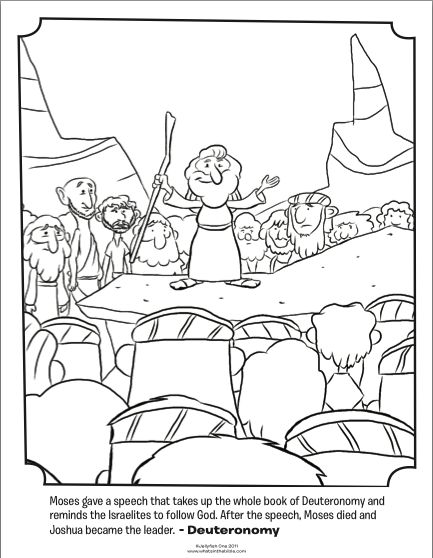 Kids Coloring Page From Whats In The Bible Featuring Moses Giving A Speech Deuteronomy Volume Wanderin Desert