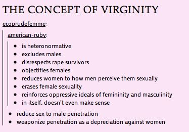 the concept of virginity