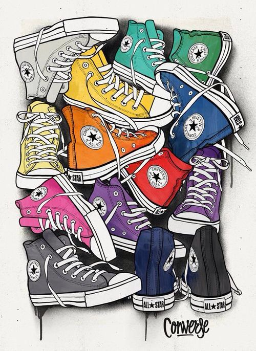 Image via We Heart It https://weheartit.com/entry/164284421/via/4266099 #allstar #clothes #colorful #converse #girl #grunge #hipster #shoes #style #young