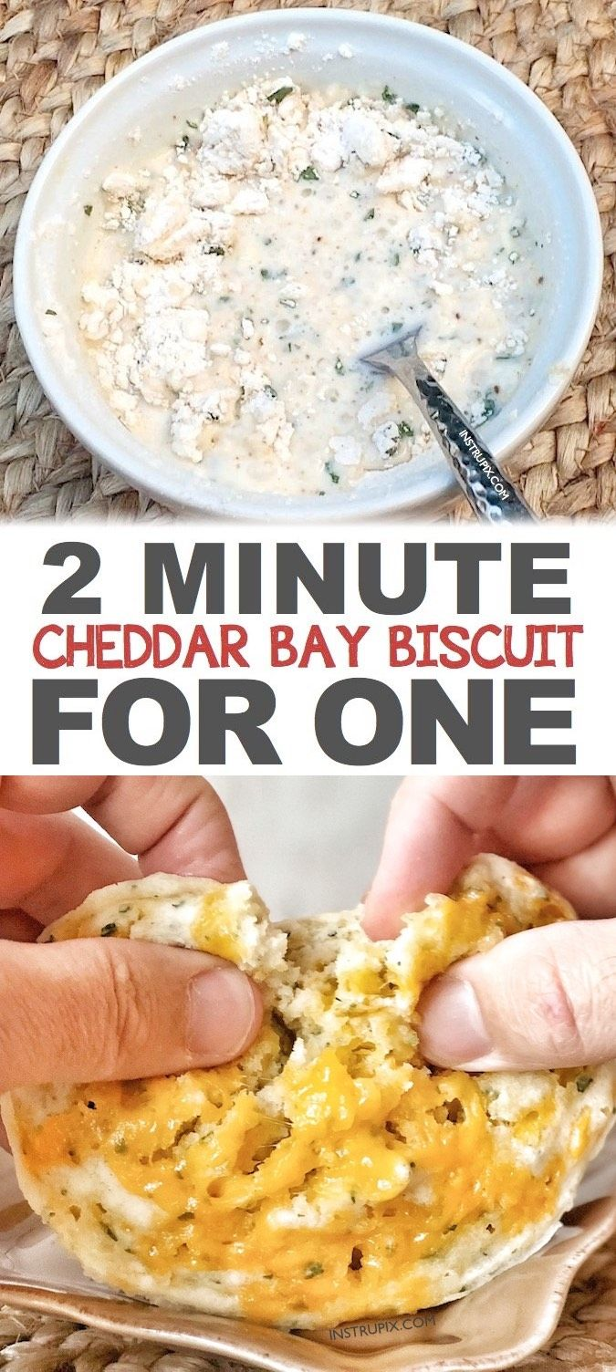 Red Lobster Cheddar Bay Biscuit In A Mug Recipe -- Easy! Just 2 minutes in the microwave! Perfect as a side for dinner if you are only cooking for one. The easiest comfort food you will ever make! Instrupix.com
