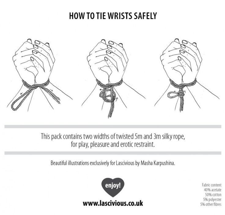 How To Tie Wrists Safely - my dear mk: Bondage by Lascivious, Drawings by Masha Karpushina