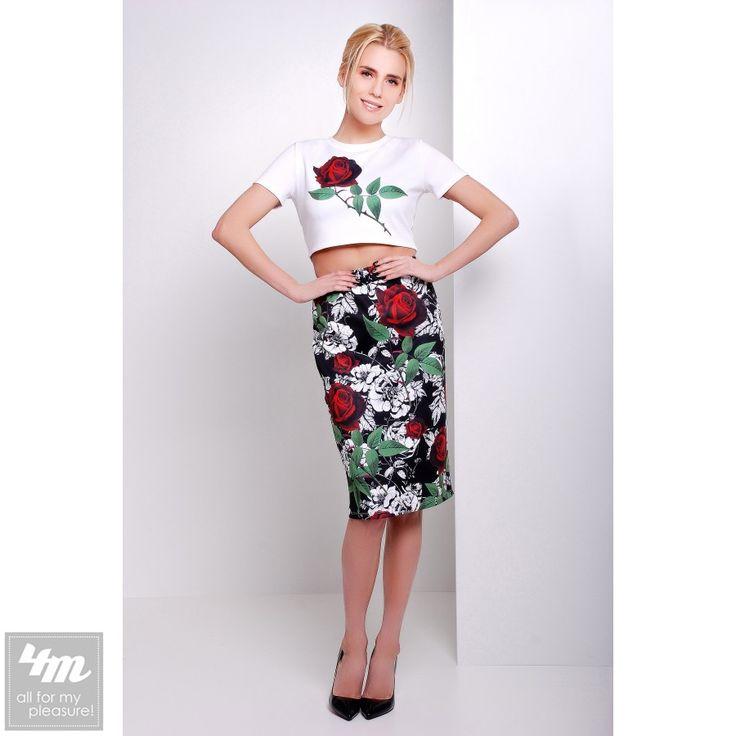 Костюм Glem «Айдана» (Белая отделка, принт винтажные розы) http://lnk.al/4uUU  Состав: дайвинг  #женскийкостюм #стильнаяодежда #стильныевещи #наряд #одеждаУкраина #4m #4mcomua
