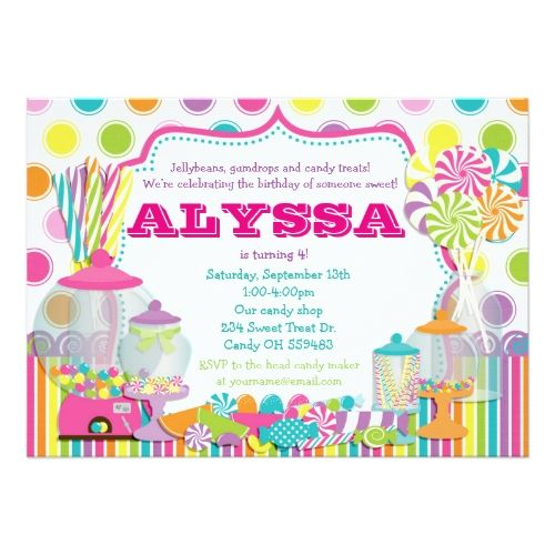 133 best candy birthday invitations images on pinterest birthday candy birthday party invitations candy shop and sweet shoppe party invitation stopboris Gallery