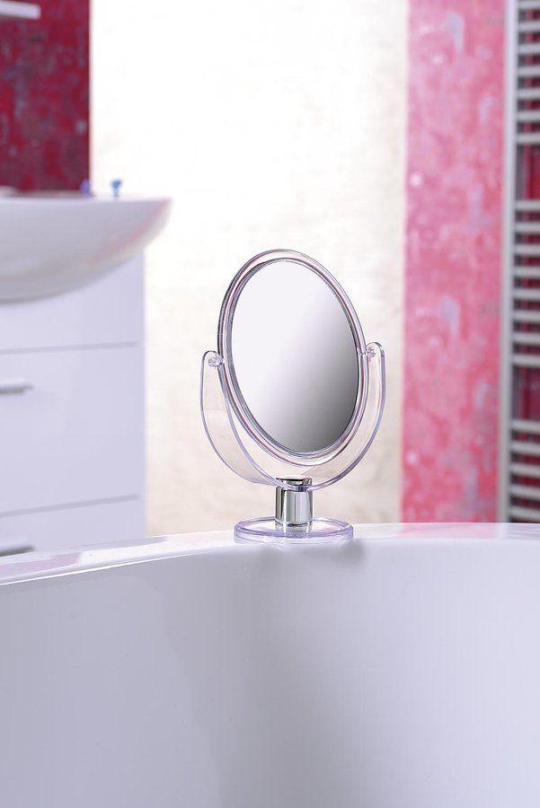 Kosmetické zrcátko na postavení, transparentní, SAPHO E-shop