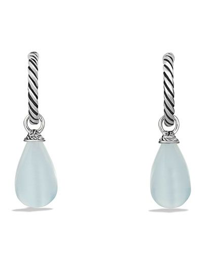 Y19YQ David Yurman Color Classics Bead Drop Earrings with Moon Quartz